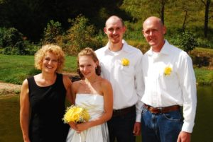 Joshua Locker, son of Khris and Becky, married Haley Griffin whose mom Rhonda grew up in our home--part of the Rogers family.